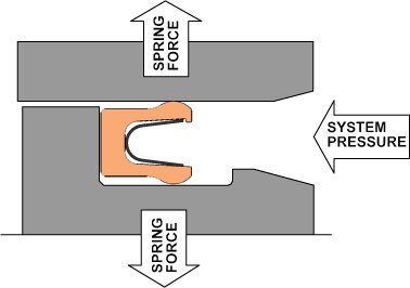 Spring Energized Seal Pressure Graphic